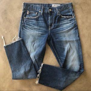 AG Boyfriend Slouchy Slim Raw Hem Jeans
